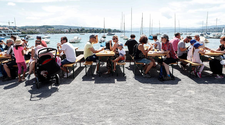 Julius Bär Zürich E-Prix 2018, Street Food, Foto: Siggi Bucher, Keystone