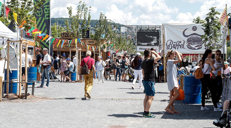 Julius Bär Zürich E-Prix 2018, Street Food Zone, Foto: Siggi Bucher, Keystone