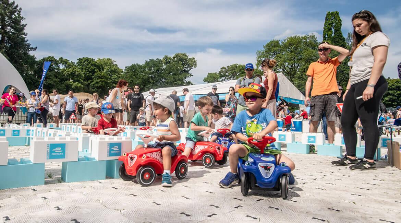 Julius Bär Zürich E-Prix 2018, Kids Zone, Bobby Car Rennstrecke, Foto: Schweizer Illustrierte X